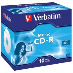 CD-R 700MB 52X VERBATIM CRYSTAL SPINDLE 25/1