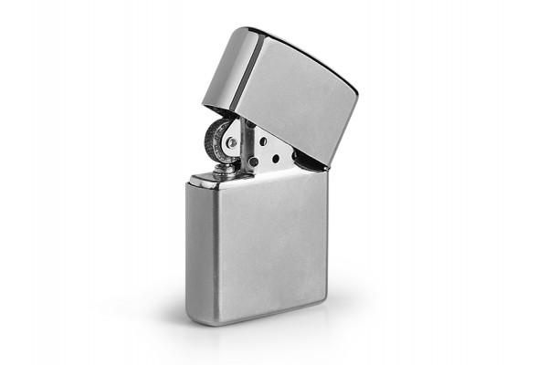 ZIPPO 205, metalni upaljač u poklon kutiji, sjajni metal
